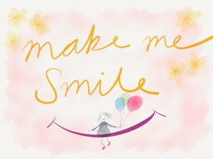 Make me smile balloon girl image